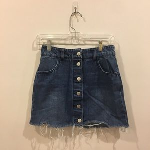 Jean Button-Down Skirt